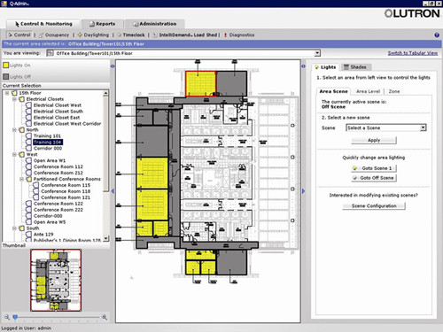 Control via Graphical Floorplan